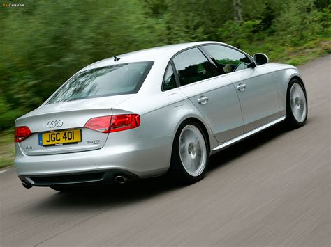 Audi A4 3.0 TDI S Line Sedan UK spec B8,8K (2009?2011) wallpapers (1600x1200)