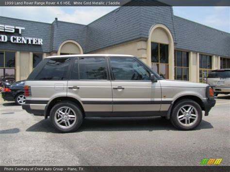 white and gold range rover 1999 land rover range rover 4 6 hse in white gold metallic