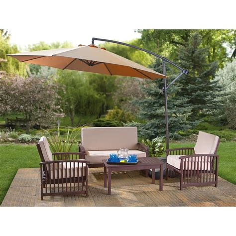 Umbrella Patio Set by Patio Furniture Umbrella Chicpeastudio