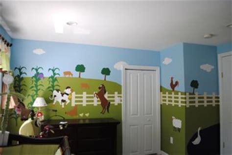 Farm Nursery Decor Baryard Border Wall Decals Baby Nursery Room Stickers Farm Animals Decor Animal Bedroom