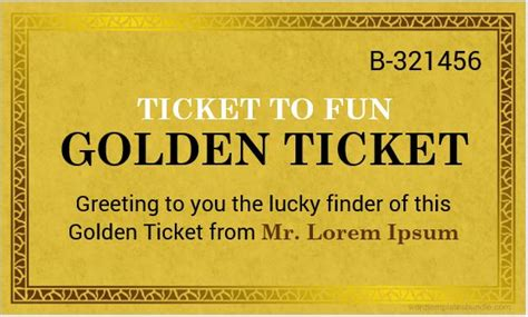 Golden Ticket Template Word Golden Ticket Templates For Ms Word Formal Word Templates
