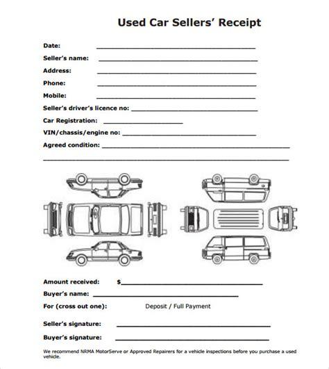 auto sale deposit receipt template sle deposit receipt template 9 free for pdf
