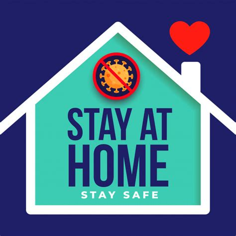 vector stay  home  safe poster design