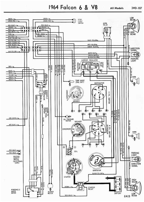 wanted 1964 ford falcon wiring diagram retro rides