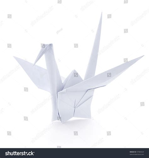 Origami Money Crane - origami paper crane stock photo 97984529