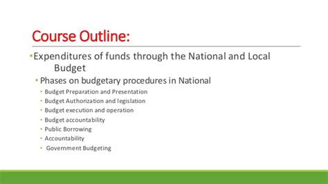 National 5 Course Outline by Finance For Bsba