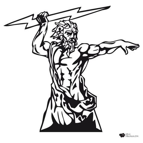 imagenes de dios zeus para dibujar dios griego zeus dibujalia dibujos para colorear
