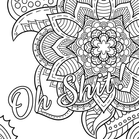 free coloring book pages oh free coloring page swear word coloring book