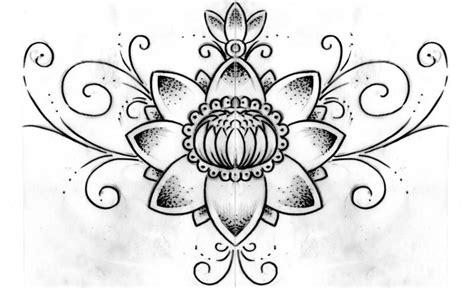 disegni fiore di loto fiore di loto disegno da colorare