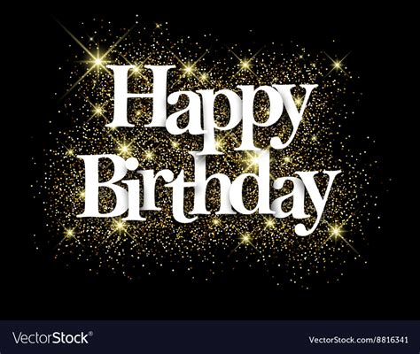 Happy Birthday Black Images happy birthday black background royalty free vector image