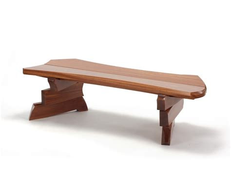 modern wooden bench nico yektai shifting slab bench contemporary wood bench