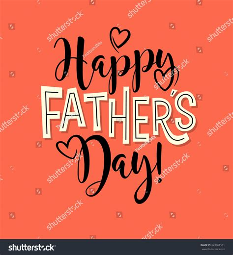 d ad typography happy fathers day typography design greeting stock vector