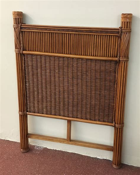 wicker headboard barbados rattan twin headboard