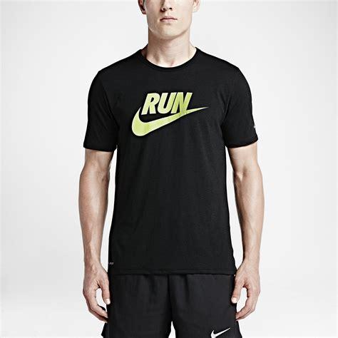 Shirt Nike Run nike mens run dri blend swoosh running t shirt black