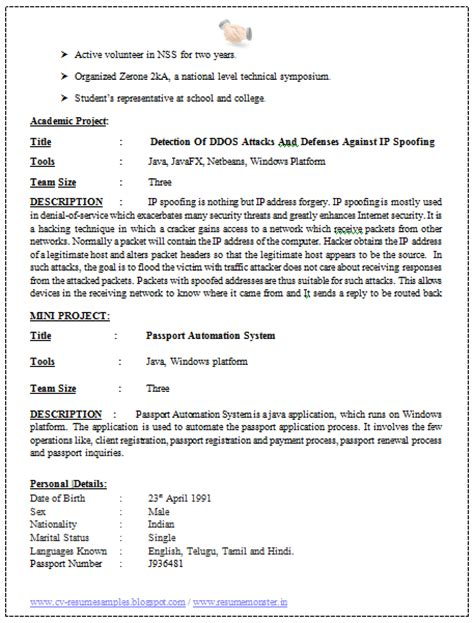 Resume Format Software Engineer Experienced 10000 Cv And Resume Sles With Free Software Engineer Resume Sle