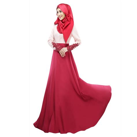 Dress Muslim Maxi Dress Wanita Annita Maxi vintage kaftan abaya jilbab islamic muslim sleeve maxi dress s1 in dresses from
