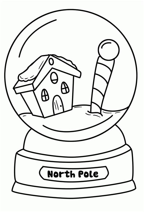 snow globe coloring page coloring home