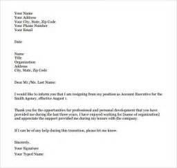 Letter Of Resignation Template Pdf by Formal Resignation Letter 16 Free Documents In Word Pdf