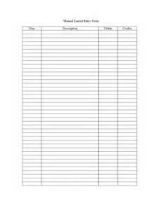journal entry template 9 best images of printable journal entry form sle