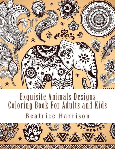 coloring books for adults barnes and noble exquisite animals designs coloring book for adults and