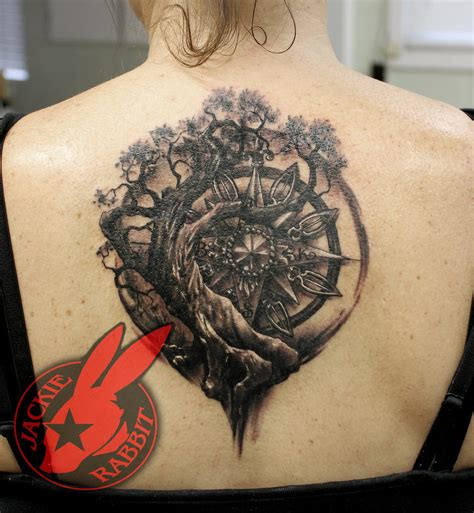 real tree of life compass tattoo jackie rabbit by