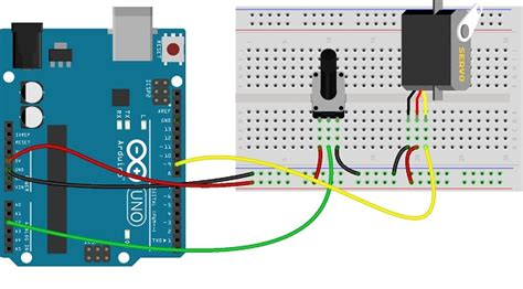 arduino resistor analog input analog input to servo motor using arduino theorycircuit do it yourself electronics projects