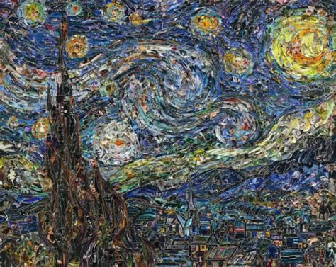 Home Decor Tip by Famous Paintings Recreated Using Thousands Of Torn