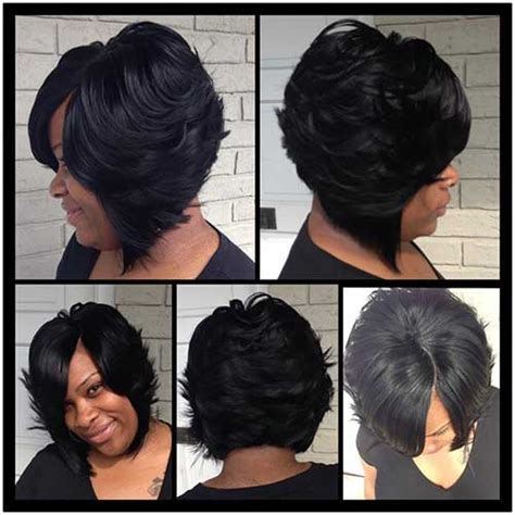 layered bob sew in hairstyles for black women for older women 20 long bob frisuren f 252 r schwarze frauen neue frisur stil