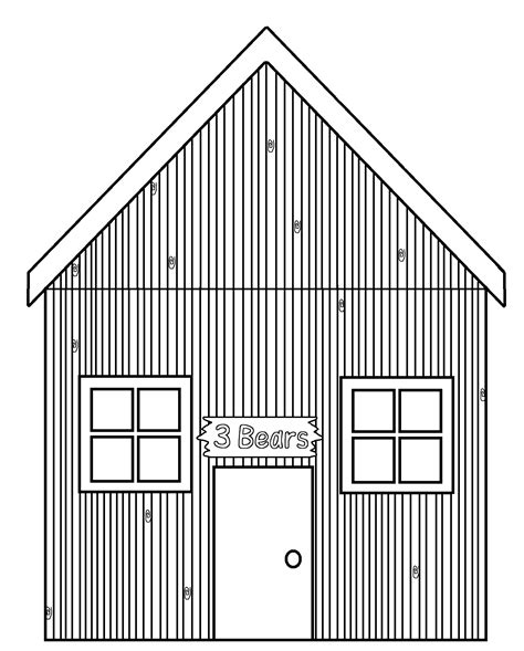 coloring page straw house graphics by ruth goldilocks and the 3 bears