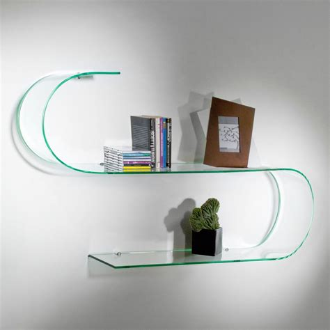 mensole vetro ikea mensole design in vetro trasparente curvato curvo surf