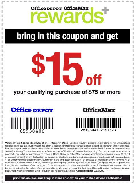 Office Depot Coupon Includes Technology Huis Muur Maart 2016