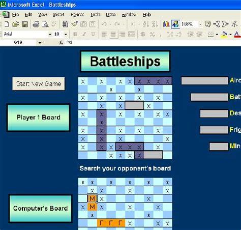 excel battleship template battleship http excelgames org battleship asp