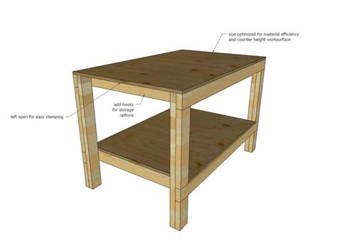 workshop bench height 25 best garage workbench plans ideas on pinterest wood