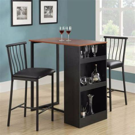 Dining Room Table Bar Height by Table Counter Height Chairs Bar Set Dining Room Pub Stools Kitchen 3 Wood Ebay