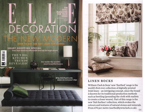 elle decor magazine elle decoration 2017 earthed by wm clark