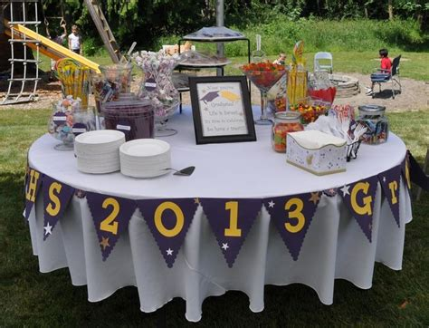 round table decorations grad party candy buffet entertaining pinterest grad