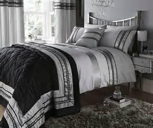 silver diamante quilt duvet cover pillowcases bedding