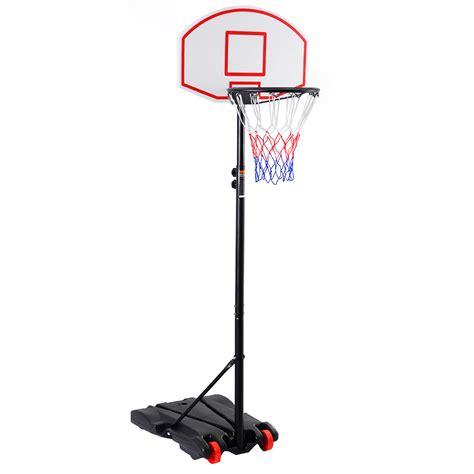 basketball hoop backyard adjustable basketball hoop system stand kid indoor outdoor net goal w wheels ebay
