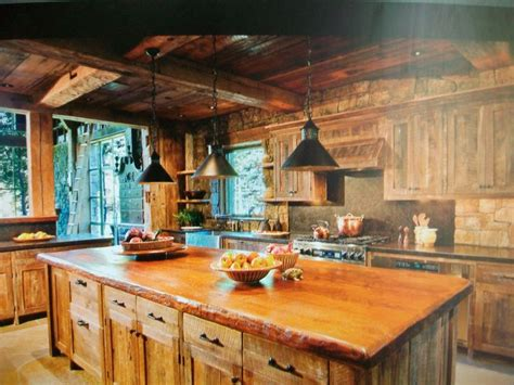 rustic cabin kitchen ideas cabin kitchen kitchen design pinterest