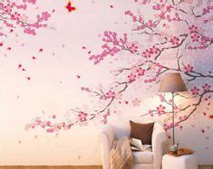 Cherry Blossom Wallpaper 5560 by Cherry Blossom Branches With Birds Vinyl Wall Sticker