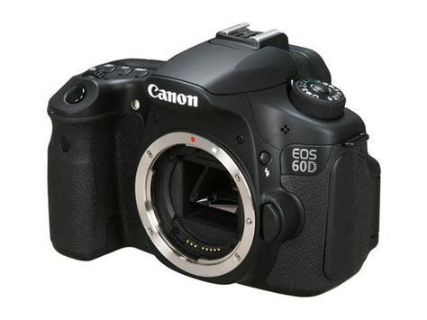 Canon 60d Only canon eos 60d 4460b003 black 18 0 mp digital slr only newegg