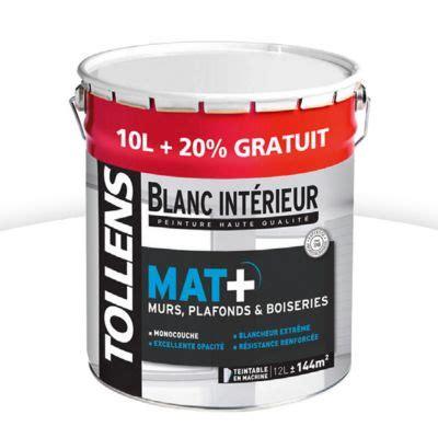 Peinture Plafond Tollens by Peinture Tollens Murs Plafonds Et Boiseries Blanc Mat 10l