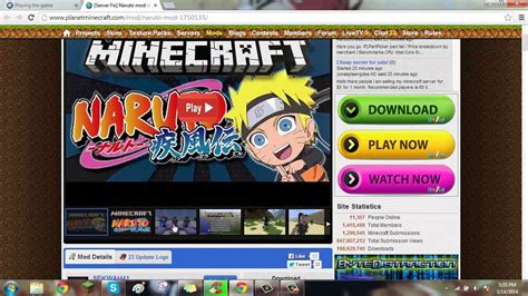 download game naruto mod by arif hd 1 6 4 how to download naruto mod by sekwah41 youtube