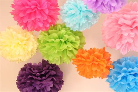 Tissue Paper Flowers Hanging Decoration by Wedding Decoration 20 Hanging Tissue Poms Plus 5 Paper