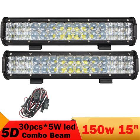15 inch led light bar 2 pcs 150w 15 inch led led work light bar 4x4