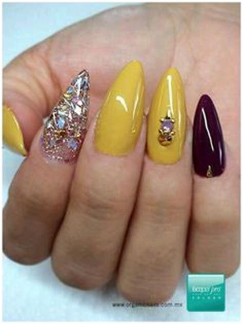 imagenes de uñas acrilicas amarillas u 241 as acrilicas tipo almendra