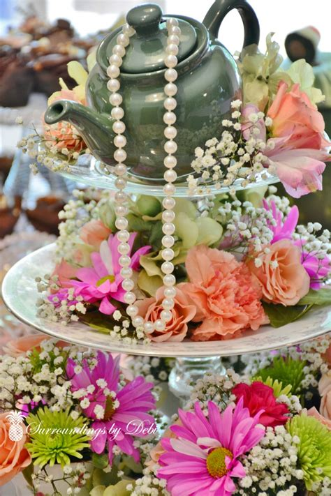 bridal shower photo centerpieces 2 how to make a beautiful tea centerpiece surroundings by debi