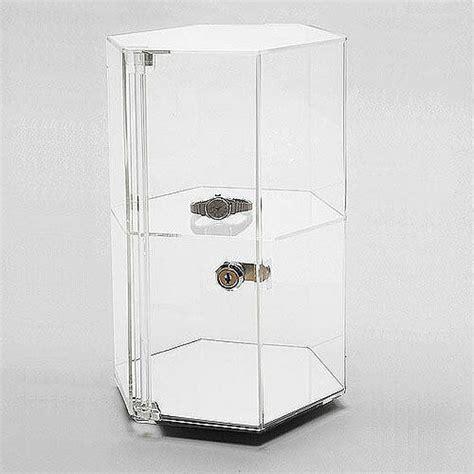 Countertop Showcase by Acrylic Countertop Revolving Showcase Hexagonal W One