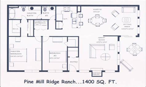 ranch style floor plans open bedroom design plans open floor plans ranch style house
