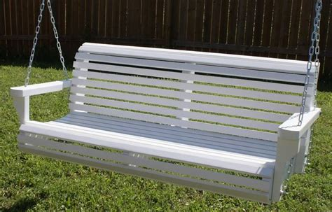 heavy duty porch swing springs new 6 foot white painted contoured classic porch swing